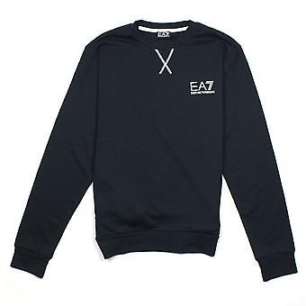 Ea7 Emporio Armani EA7 Contrast Stitching Crew Neck Sweatshirt Darkslate