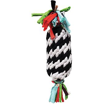 Super Scooch Rope Gummer With Squeaker Dog Toy 11