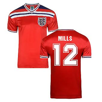Score Draw England World Cup 1982 Away Shirt (Mills 12)
