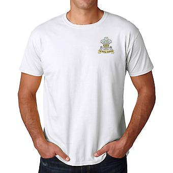 The Royal Hussars Embroidered Logo - Official British Army Ringspun T Shirt