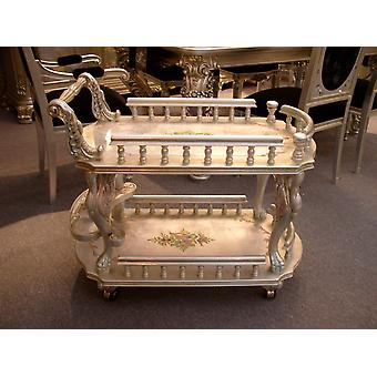 Baroque table antique tea trolley style Vp5325