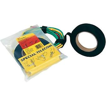 Hook-and-loop tape for bundling Hook and loop pad (L x W) 10000 mm x 20 mm Black 3M 3M Scotchflex Universalklettband 10