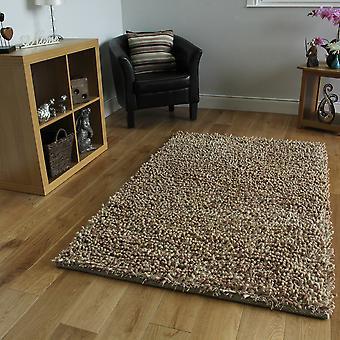 Beige ruige wol tapijt Moskou