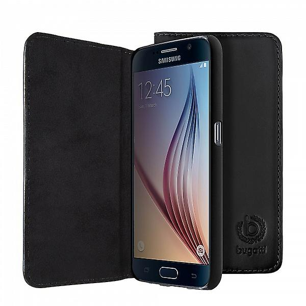 Bugatti BookCover Oslo real leather case for Samsung Galaxy S6 G920 G920F black