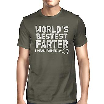 World's Bestest Farter Dark Gray Funny Design Tee For Fathers Day