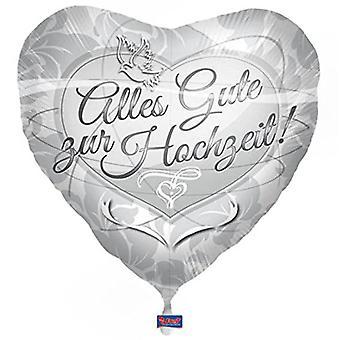 Folia balon szczęśliwy urodziny wesele srebrny helem balon 43 cm balon