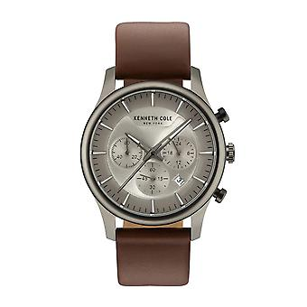 Kenneth Cole New York men's watch wristwatch leather KC15106001