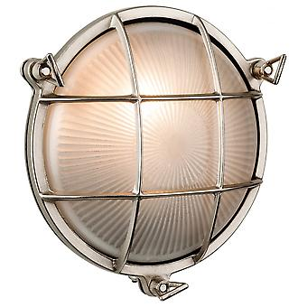 Firstlight Nautic Oval Nickel Flush Outdoor Wall Fitting