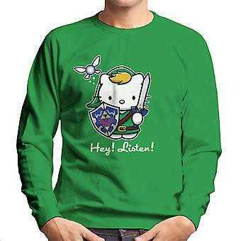Hey lytte Link Hello Kitty Zelda mænds Sweatshirt
