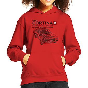 Haynes Besitzer Werkstatt Handbuch Ford Cortina Black Kid das Sweatshirt mit Kapuze