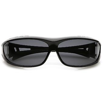 التفاف حول مستطيل حملق النظارات الشمسية مع عدسة مستقطبة الذراع المطاط نصيحة 62 ملم
