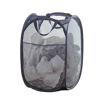 Neatfreak Square Mesh Pop Up Hamper with Pocket (Blue)