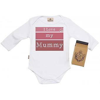 Spoilt Rotten I Love My Mummy Baby Grow 100% Organic In Milk Carton