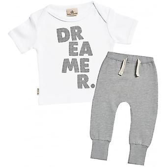 Verwend rotte Dreamer. Baby T-Shirt & Joggers Outfit Set
