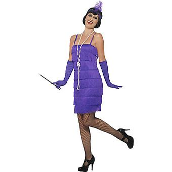 Smiffys Flapper Costume Purple With Short Dress Headband & Gloves (Costumes)