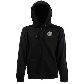 US Army 25th Infanteriedivisie geborduurd Logo - rits Hoodie jas