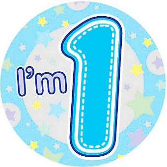 Expression Factory Childrens Boys I'm 1 Today Giant Badge