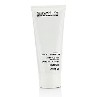 Academie Clay To Oil 2 in 1 Mask - For All Skin Types (Salon Size) - 200ml/6.7oz