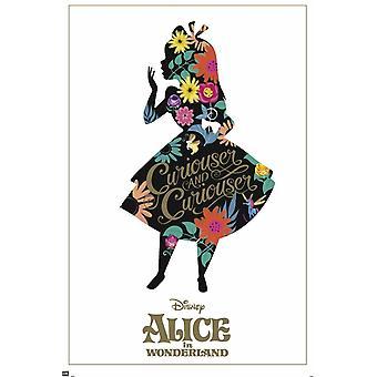Alicja w krainie czarów sylwetka plakat Poster Print