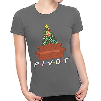 Friends Christmas Pivot Sofa Women's T-Shirt