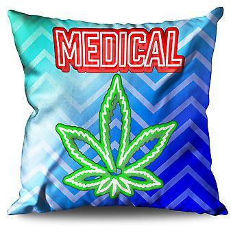 Medizinisches Marihuana Rasta Leinen Kissen medizinisches Marihuana Rasta | Wellcoda