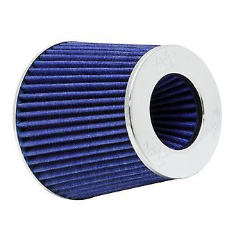 K & N RG-1001BL universele Clamp-On Air Filter: ronde Tapered; 3 in/3.5 in/4 in (102 mm/89 mm/76 mm) flens ID; 5.5 in (140