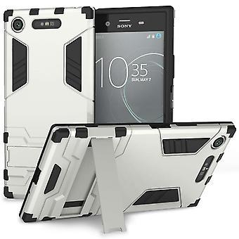 Sony Xperia XZ1 Armour Kickstand Case - Silver