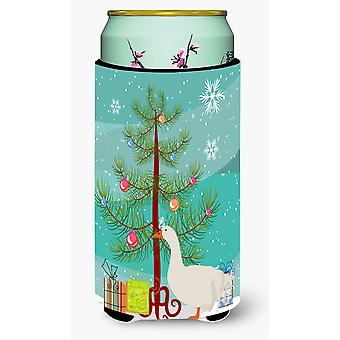 Sebastopol Goose Christmas Tall Boy Beverage Insulator Hugger