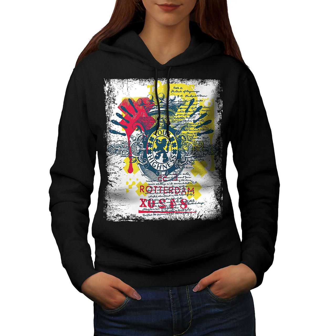 Rotterdam Dutch Cool Women BlackHoodie | Wellcoda