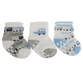 Nursery Time Baby Boys Train Design Socks (Pack Of 3)