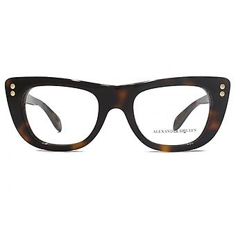 Alexander McQueen Edge AM0034 Glasses In Havana