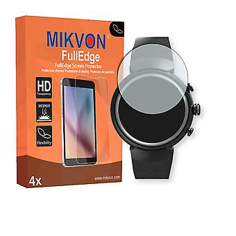 Asus Zenwatch 3 screen protector - Mikvon FullEdge (screen protector with full protection and custom fit for the curved display)