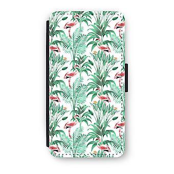 Huawei P9 Flip Case - Flamingo leaves