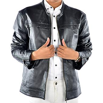 Abram Mens Leather Jacket