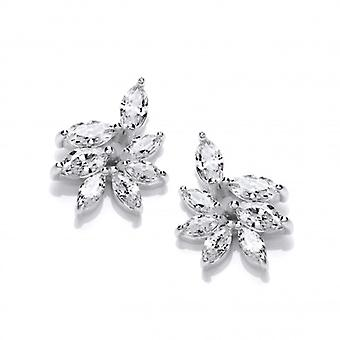 Cavendish French Silver and CZ Iris Stud Earrings