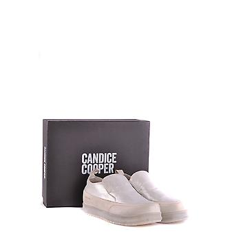 Candice Cooper women's MCBI394008O silver suede slip on sneakers