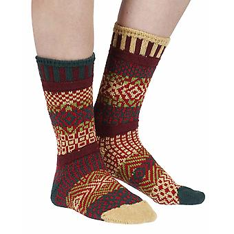 Maple Leaf recycled cotton multicolour odd-socks | Crafted by Solmate