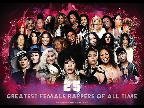 25 Greatest Female Rappers of All Time Poster (24x18)