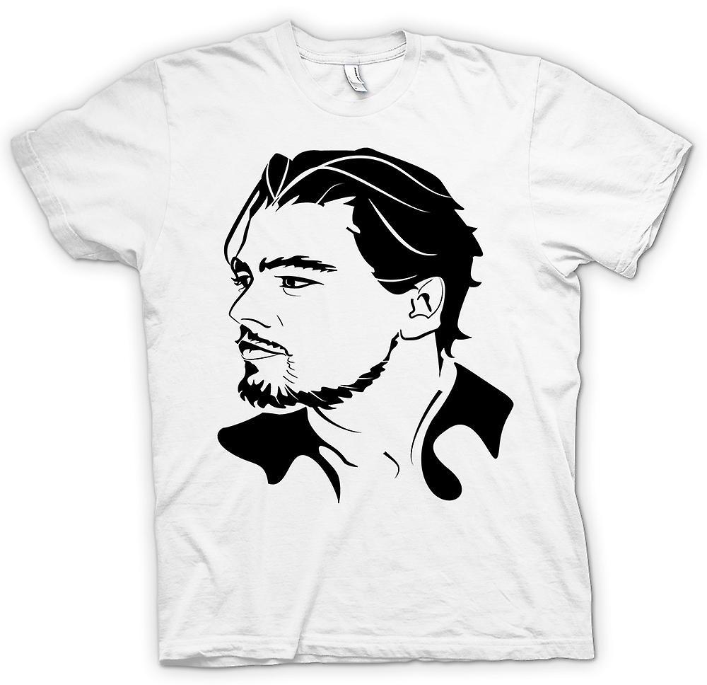 Heren T-shirt-Leonardo Dicaprio portret