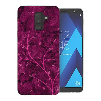 Samsung A6 Plus (2018) roze boom TPU Gel geval