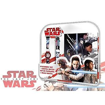 STAR WARS Multi Coloured Pen WristWatch and Secret Diary Gift Set