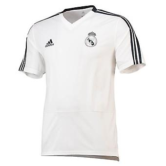 2018-2019 Real Madrid Adidas Trainingsshirt (weiss)