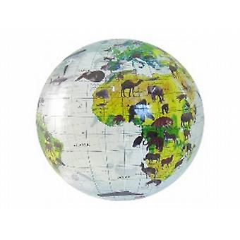 Inflatable World Globe Animal World Globe (16 inch)