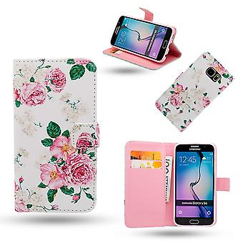 Samsung Galaxy S6-Case/leather wallet-Roses
