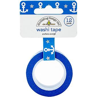 Doodlebug Washi Tape 15mm X 12yd-Anchors Aweigh