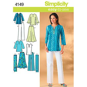 Simplicity Misses And Womens Skirt, Pant-10 12 14 16 18