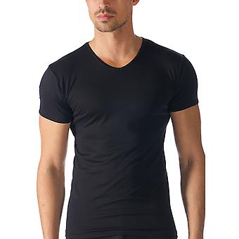 Mey Men 42507-123 Men's Software Black Solid Colour Short Sleeve Top