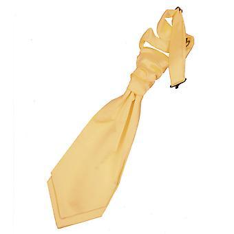 Pale Yellow Plain Satin Pre-Tied Wedding Cravat for Boys
