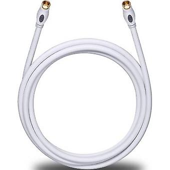 Antennas, SAT Cable [1x F plug - 1x F plug] 5.10 m 120 dB gold plated connectors White Oehlbach Transmission Plus S