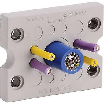 Icotek KEL-DPZ-B17 Cable grommet Terminal Ø (max.) 16.2 mm Polyamide, Elastomer Grey 1 pc(s)
